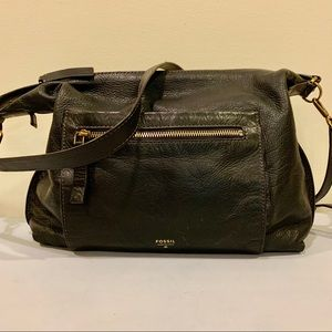 Fossil Pebbled Leather Crossbody Bag